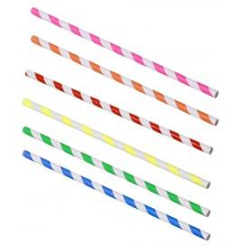 Pajitas colores 100 uds.
