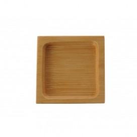 Platito cuadrado bambú 500 uds.