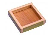 Plato cuadrado caña de bambú 10 uds