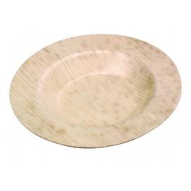 Mini plato llano de palma 50 uds