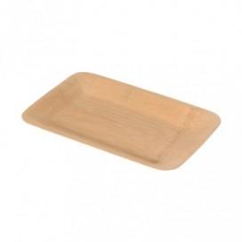 Plato rect corteza bambú 48 uds
