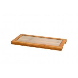 Bandeja con cristal rectangular 10 uds