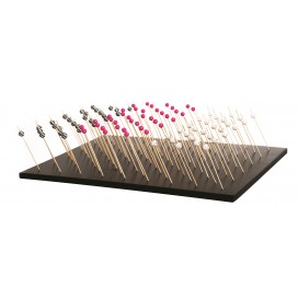 Presentador bambú negro 20 uds.