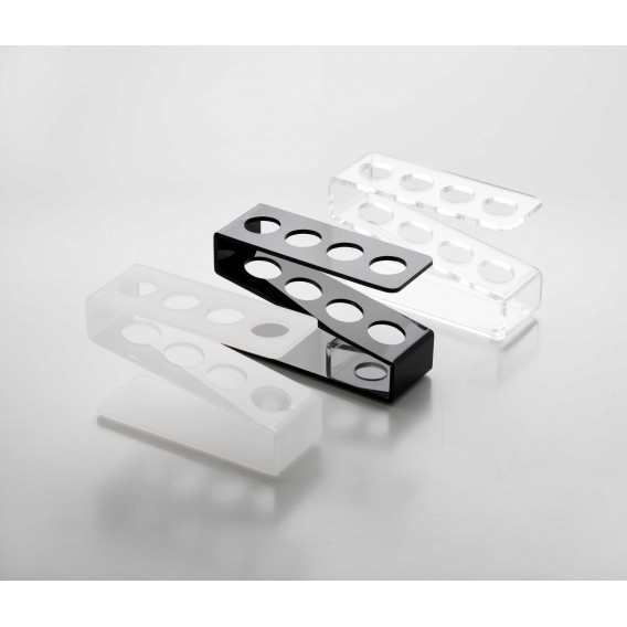 Gradilla plexiglás para 4 tubos de ensayo