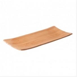 Plato buffet bambú 40 uds