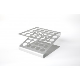 Gradilla aluminio para tubos ensayo
