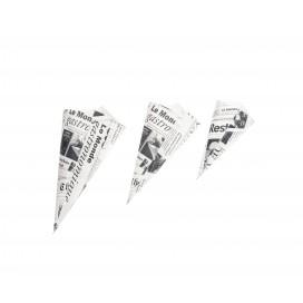 Cucurucho papel periódico S 100 uds.