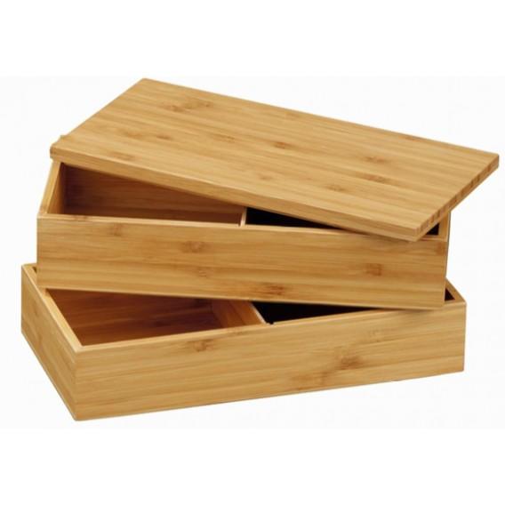Caja bento 4 compartimentos