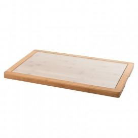 Bandeja con cristal rectangular XL 10 uds